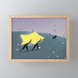 Carrying star Framed Mini Art Print