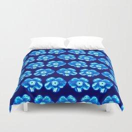 Blue Flower Girly Pattern Duvet Cover