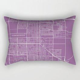 Oxnard Map, USA - Purple Rectangular Pillow
