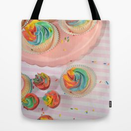 rainbow cupcakes Tote Bag