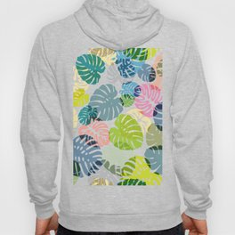 Multicolor Tropical Leaves 29 Hoody