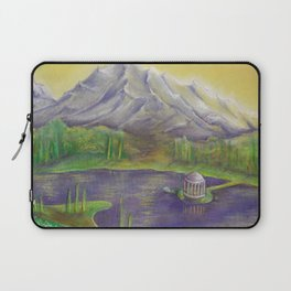 Landscape with lake and mountains by pastel Laptop Sleeve