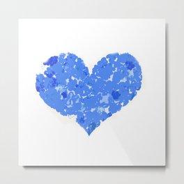 A Heart Of Blue Flowers Metal Print