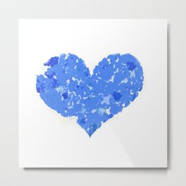 A Heart Of Blue Flowers Metal Print