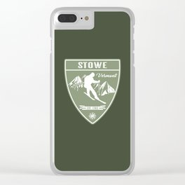Stowe Vermont Clear iPhone Case