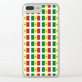 Flag of senegal – senegalais,senegalaise,senegalese,dakar,wolof. Clear iPhone Case