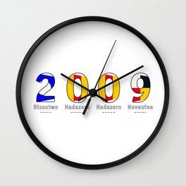 2009 - NAVY - My Year of Birth Wall Clock