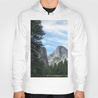 yosemite Hoodies featuring Yosemite by Angela McCall