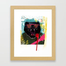 Grizzled Framed Art Print