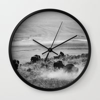 buffalo Wall Clocks featuring BUFFALO by Eliesa Johnson