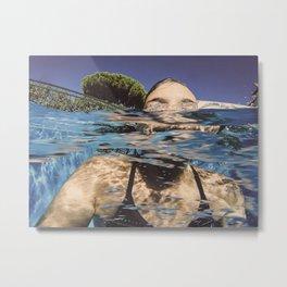 La nageuse Metal Print
