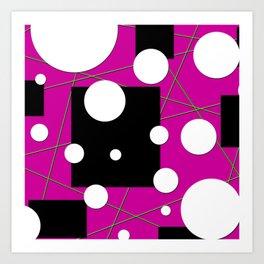 Geo Shape Play in Pink Art Print