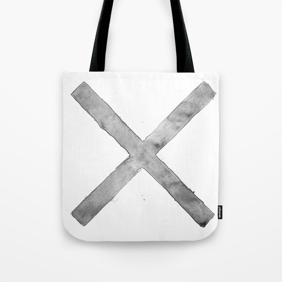 BLACK AND WHITE CROSS Tote Bag