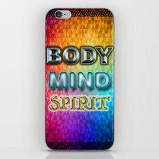 Body Mind Spirit iPhone & iPod Skin