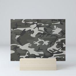Camouflage Pattern Snow Mini Art Print