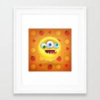 positive Framed Art Prints featuring Positive by Keyspice