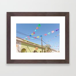 Party Flags in Mexico Framed Art Print
