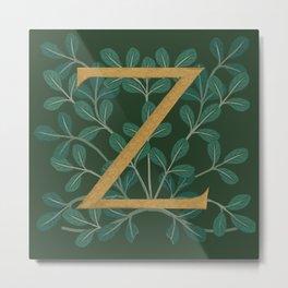 Forest Letter Z 2018 Metal Print