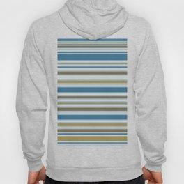 Stripey Design Gold Cream Brown Blues Hoody