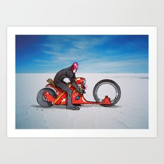 red dredd racer Art Print