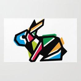 Rainbow Anigami Bunny Rug
