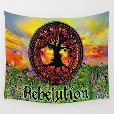 Rebelution Tree of Life Bright Side of Life Beautiful Sunrise/Sunset Landscape Wall Tapestry
