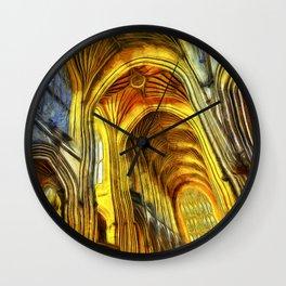 Bath Abbey Van Gogh Wall Clock