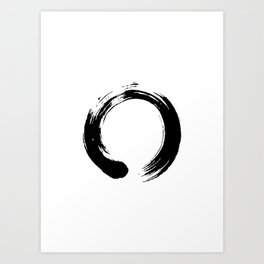 enso, enso circle, zen circle, zen enso, zen symbol, zen art, japanese circle, japanese, japanese ar Art Print