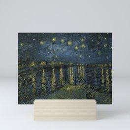Vincent van Gogh - Starry Night on the Rhone Mini Art Print