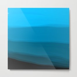 Ombre in Blue Metal Print