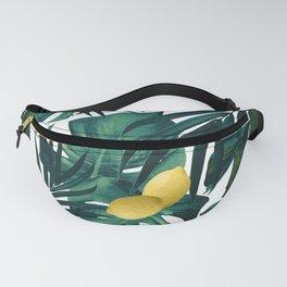 Tropical Lemon Twist Jungle #1 #tropical #decor #art #society6 Fanny Pack