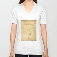 da vinci V-neck T-shirts featuring Break-Da (vinci) nce by boonheilig