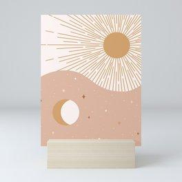 Yin Yang Blush - Sun & Moon Mini Art Print