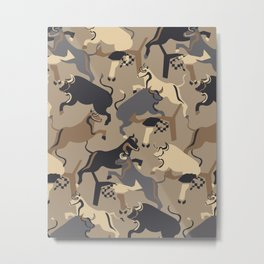 Year of the Ox-Taupe Metal Print