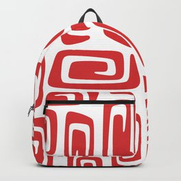 Mid Century Modern Cosmic Abstract 613 Red Backpack