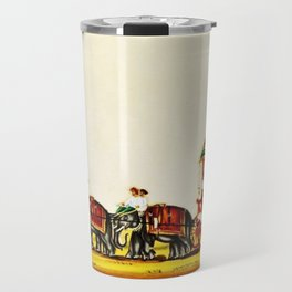 Classical Masterpiece 1820 'Maharaja Elephant-drawn Carriage, Bombay, Indian - Artist Unknown Travel Mug