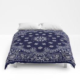Paisley - Bandana - Navy Blue - Southwestern - Cowboy Comforters