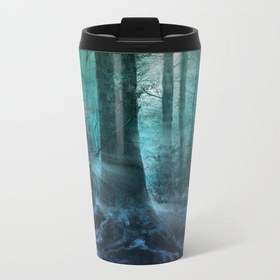 magical forest landscape Metal Travel Mug