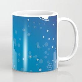 Santa's sleigh ride on a blue background Coffee Mug