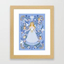 Princess Fairy tale Illustration Framed Art Print