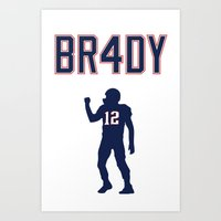 Brady 4 Time Champ Art Print