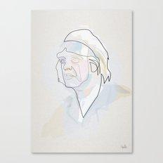 One line Dr. Emmett Brown  Canvas Print