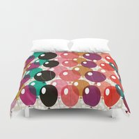 balloons Duvet Covers featuring Balloons by Michelle Nilson