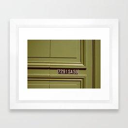 Green doorway  Framed Art Print
