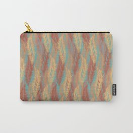 Feather Stripe - Soft Coral Carry-All Pouch