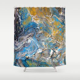 Mineralogy - Abstract Flow Acrylic Shower Curtain