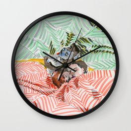 Ying Yang Couple in Bed Wall Clock
