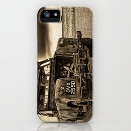 Abandoned Landrover at Dungeness iPhone Case