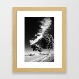 3 Trees with Storm Framed Art Print