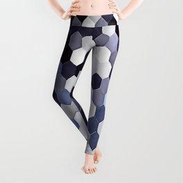 Honeycomb Pattern In Blue Tones Leggings